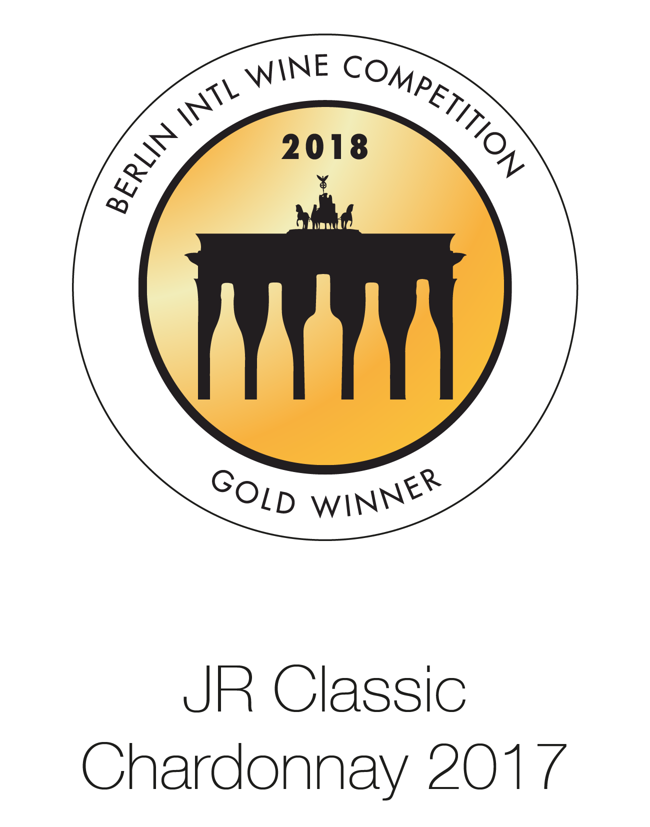 JR Classic - Chardonnay 2017 - Berlin International Wine Competition 2018