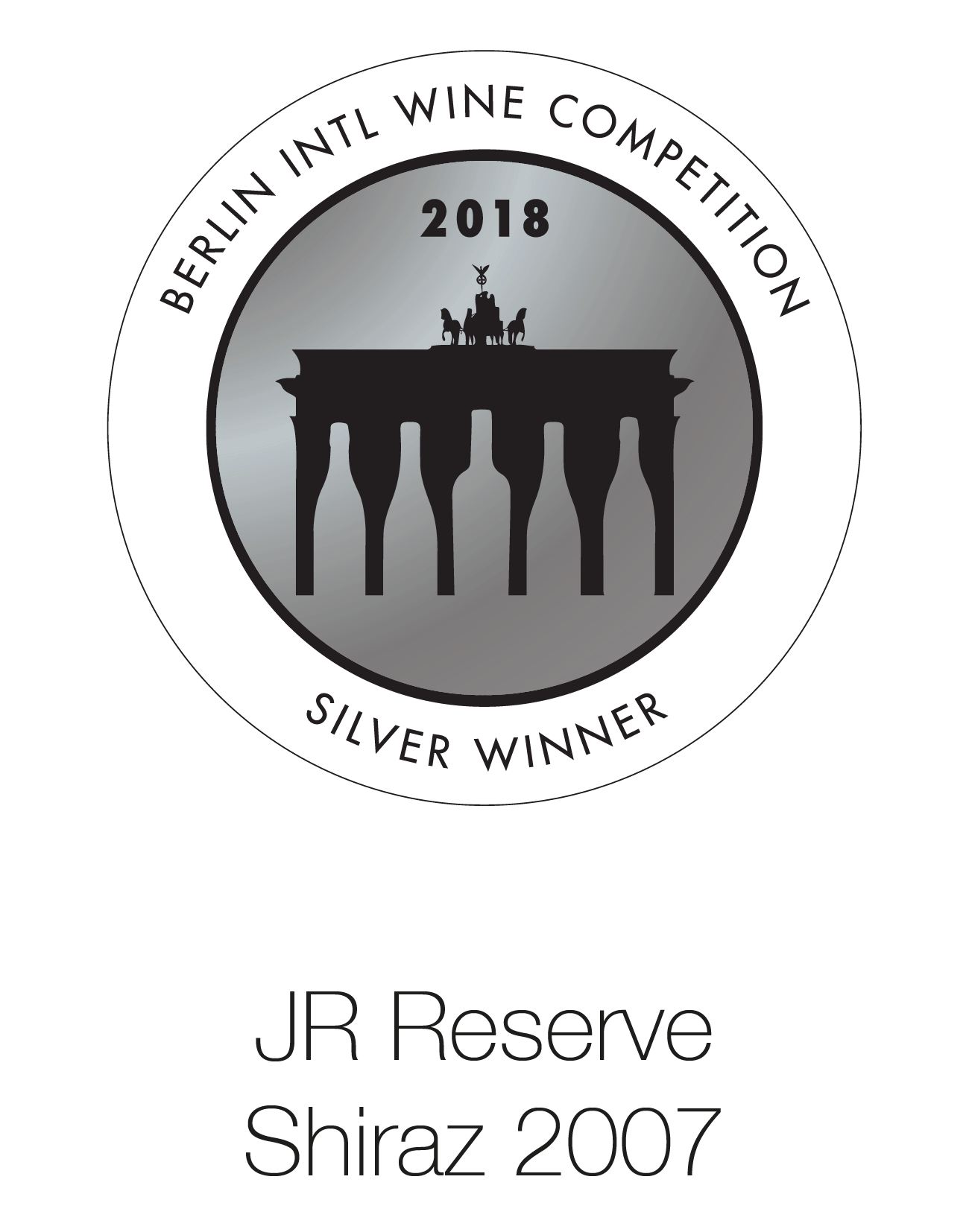 JR Reserve Shiraz 2007 - Berlin International Wine Competition 2018