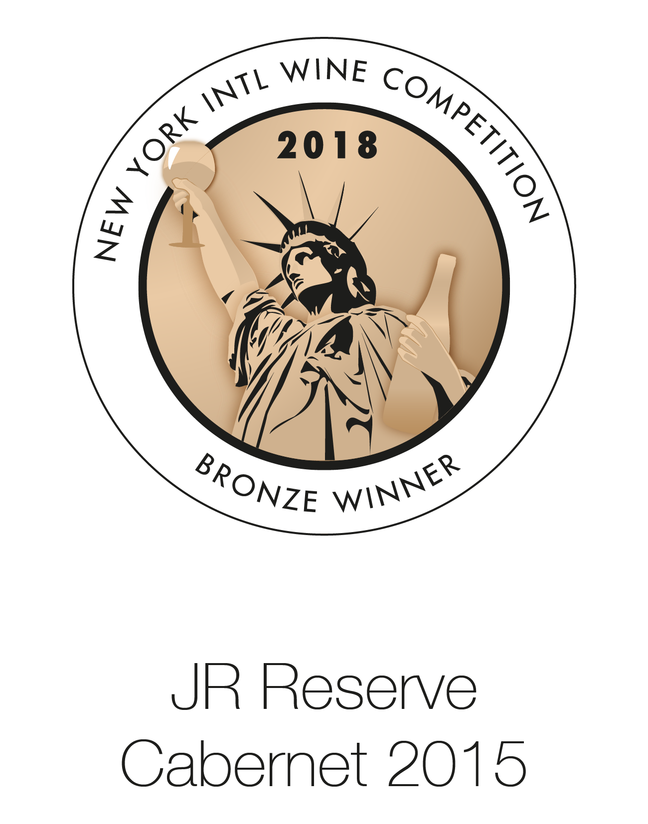 JR Reserve - Cabernet Sauvignon 2015 - New York Intl Wine Competition 2018