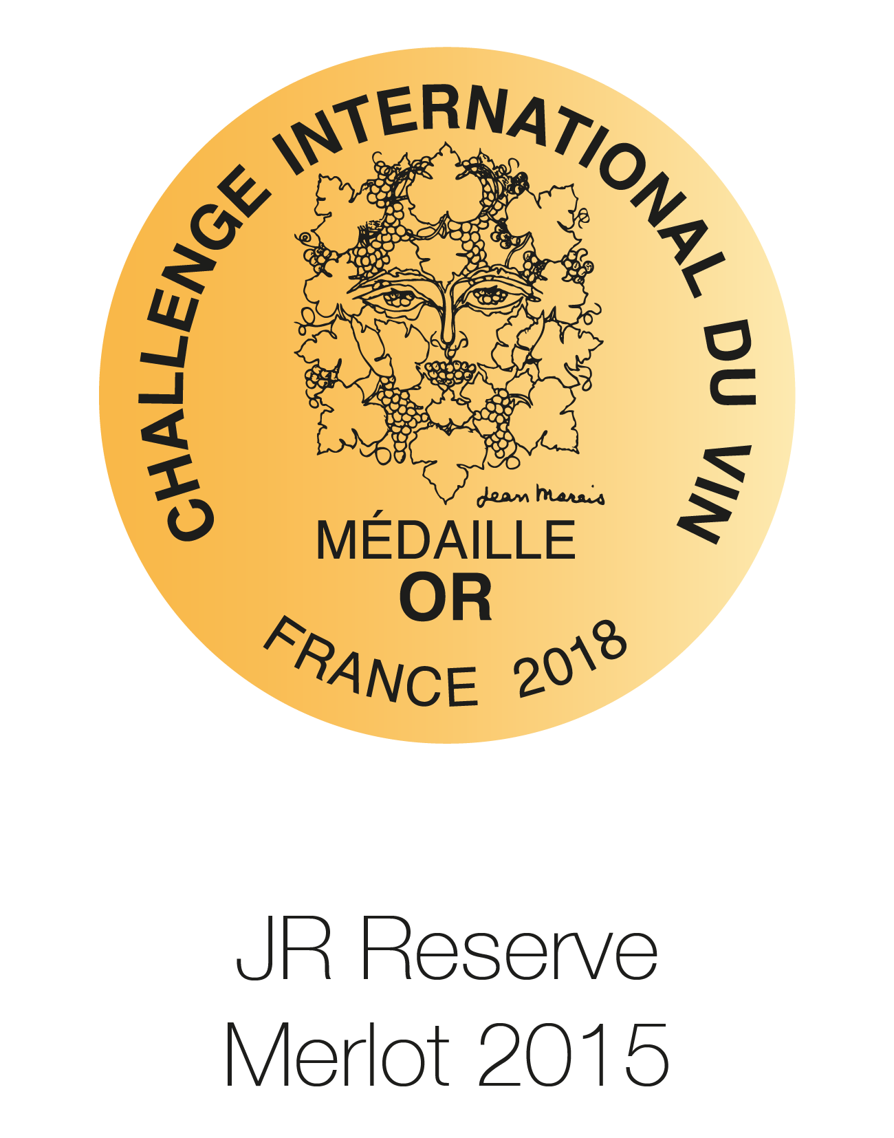 JR Reserve - Merlot 2015 - Challenge international Du Vin 2018