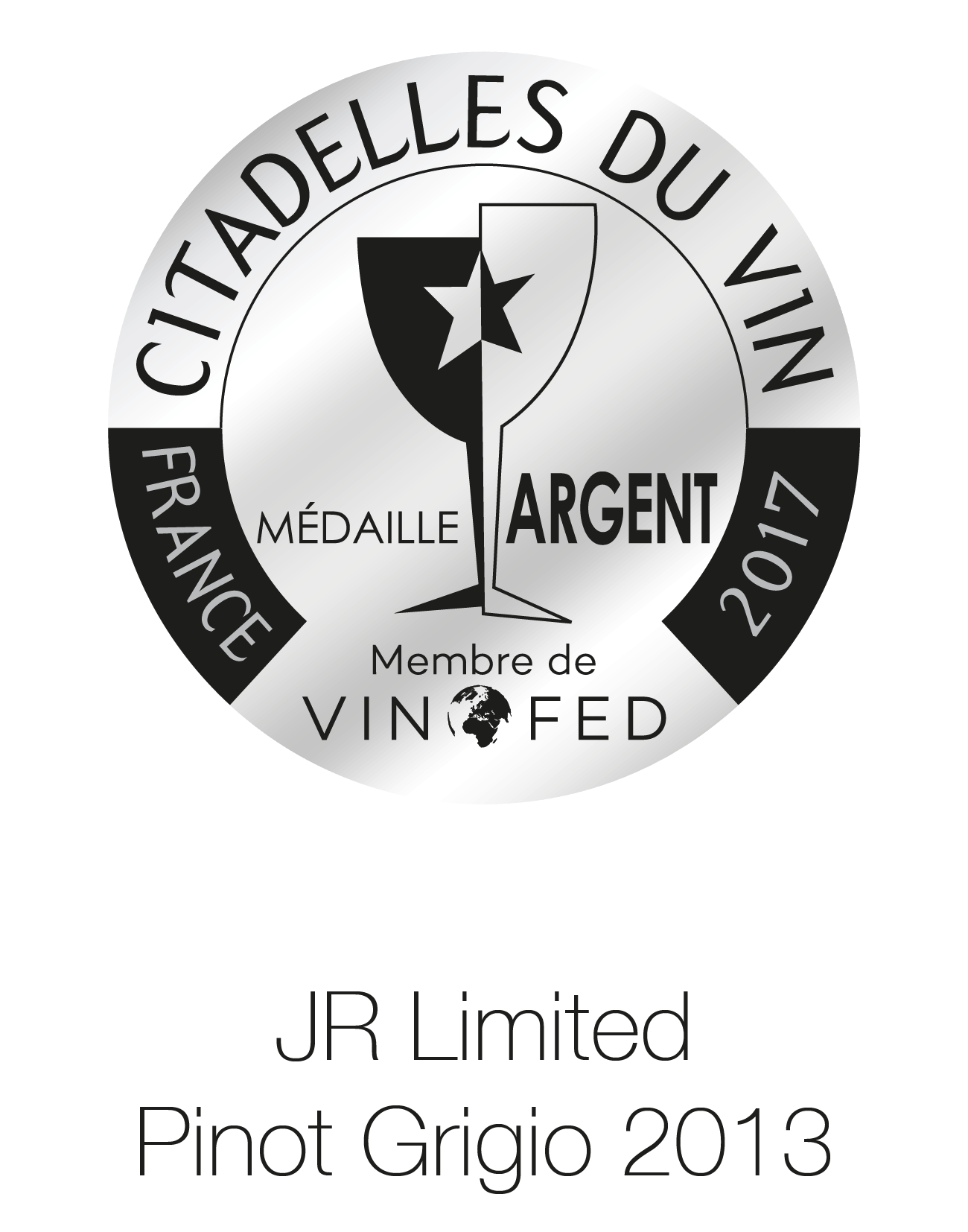 JR Wine - Limited Edition - Pinot Grigio 2013 - France Citadelles Du Vin 2017