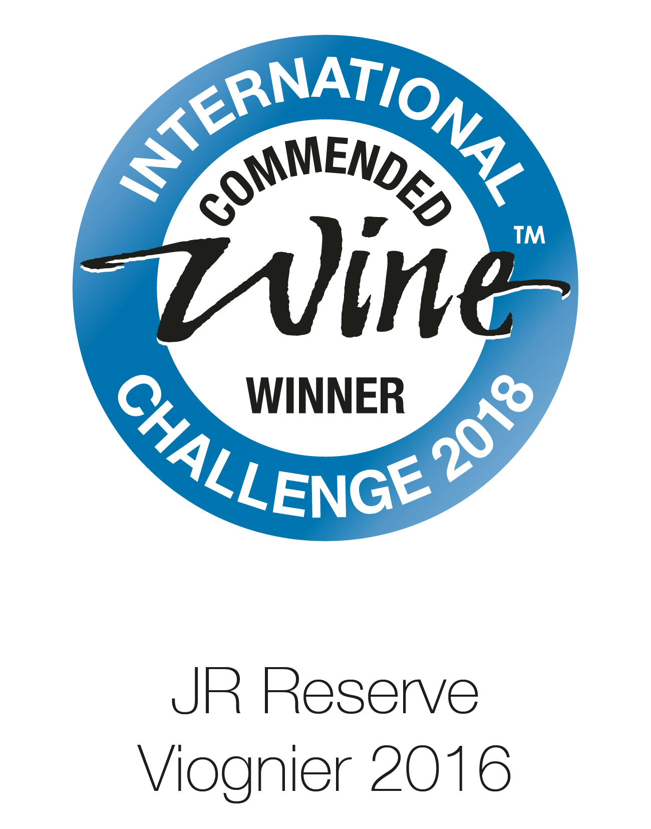 JR Wine - Reserve - Viognier 2016 - International Commended Wine Challenge 2018